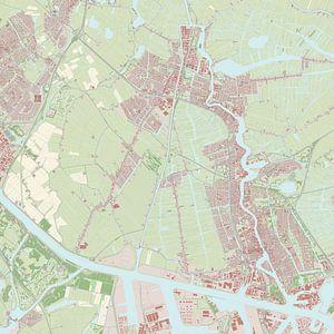 Kaart vanZaanstad van