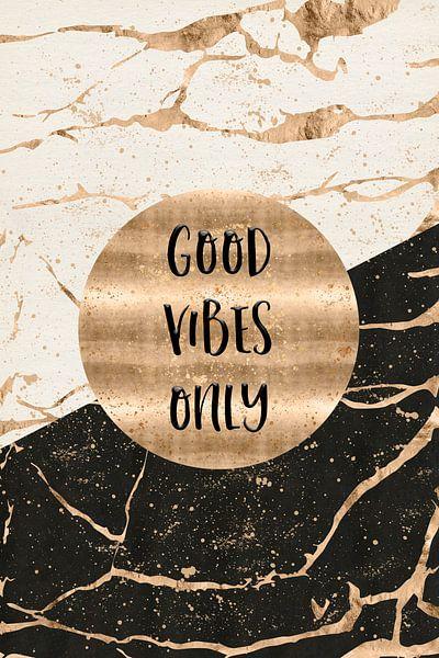GRAFISCHE KUNST Good vibes alleen van Melanie Viola