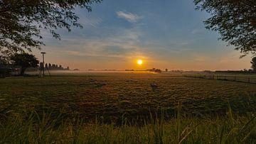 Sonnenaufgang in der Polderlandschaft... von Bert - Photostreamkatwijk