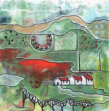 Saisonale Landschaft - Frühling von Ariadna de Raadt