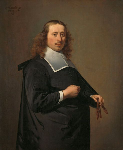 Porträt von Willem Jacobsz Baert, Caesar Boethius van Everdingen von Meesterlijcke Meesters