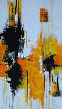 Abstracte nr. 30 Zonnegeel van Claudia Neubauer