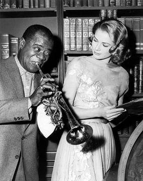 Louis Armstrong and Grace Kelly van Bridgeman Images