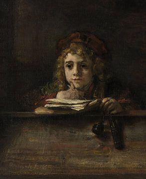 Titus an seinem Schreibtisch, Rembrandt van Rijn