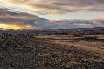 Buitenaards landschap in IJsland