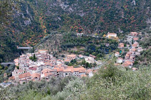 het dorpje Airole (Italië)