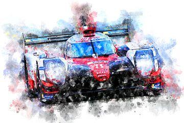Fernando Alonso, Toyota, Le Mans 2018 van Theodor Decker