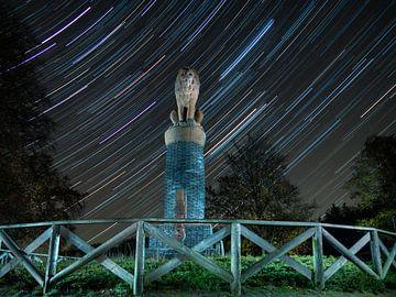 Sterrensporen bij Monument Park 1813 Lemelerberg van Andre Zwiers