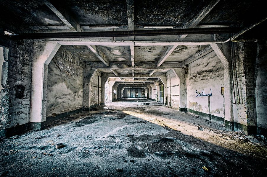 Industrieanlage verlassen