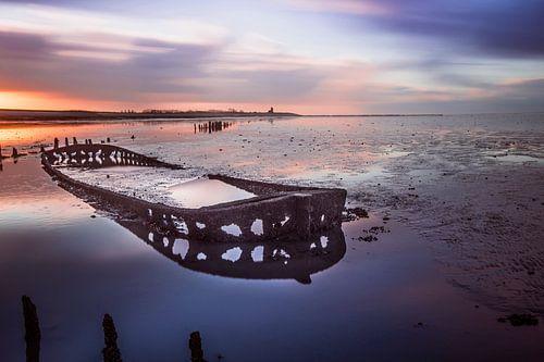 Scheepswrak in de Waddenzee van AGAMI Photo Agency