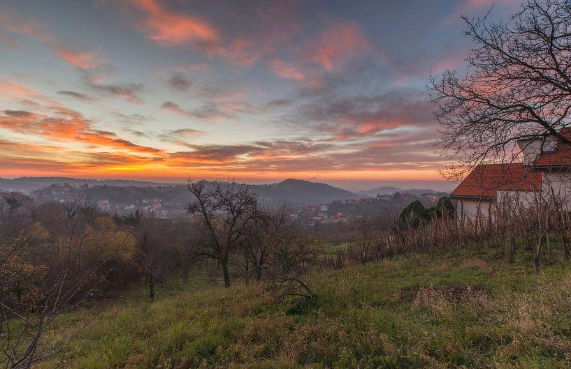 Sunrise landscape Croatia sur Marcel Kerdijk