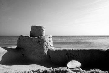 Zandkasteel op Cas Abao