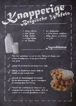 Dessert Recept - Belgische Wafels van JayJay Artworks