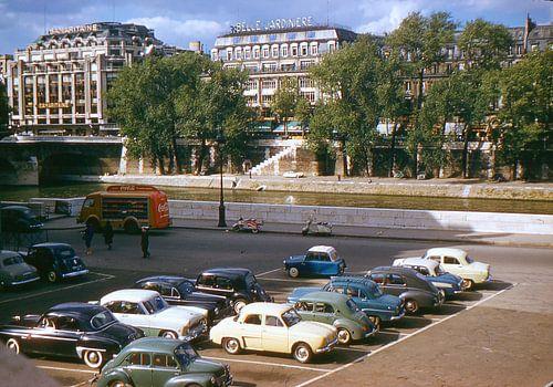 Vintage foto 1957 Parijs van
