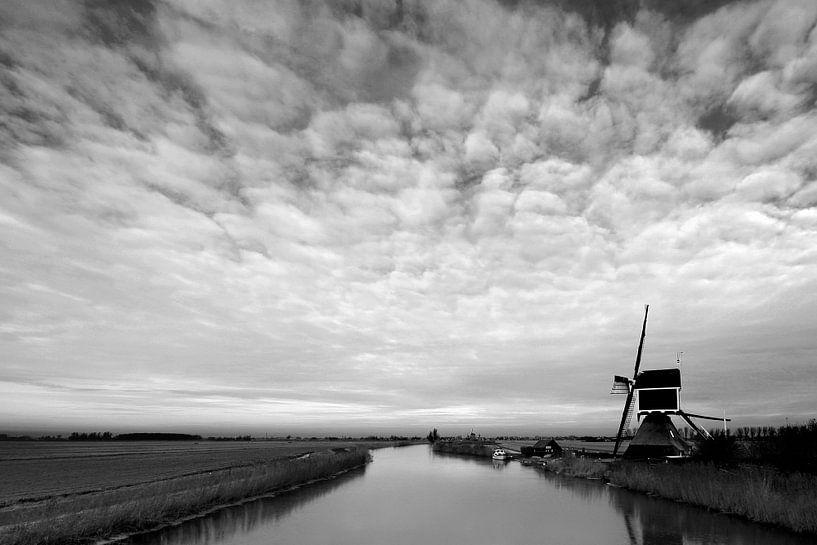 De derde molen aan de molenkade in Groot Ammers van Jesse de Boom