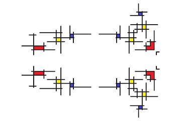 Mondrianoïde 2 van Henk-Jan van Tuyl