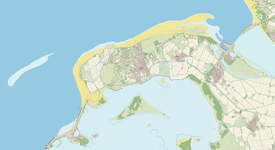 Kaart vanGoeree-Overflakkee van Rebel Ontwerp