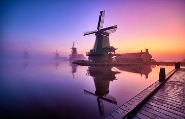 Windmühle auf der Zaanse Schans von Peter de Jong