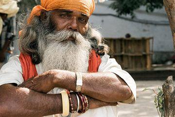 Portrait de rue en Inde sur Annet van Esch