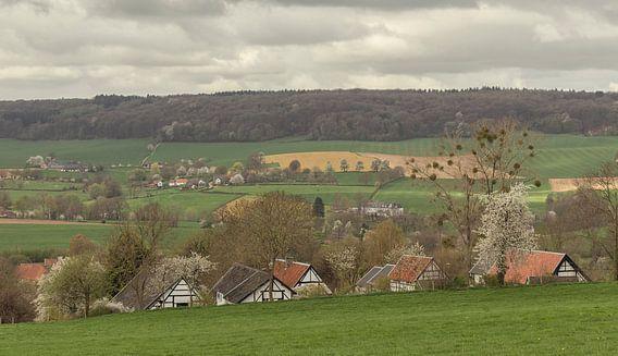 Vakwerkhuisjes en Bloesem in Zuid-Limburg van John Kreukniet