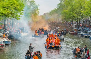 Koningsdag Amsterdam van Ivo de Rooij