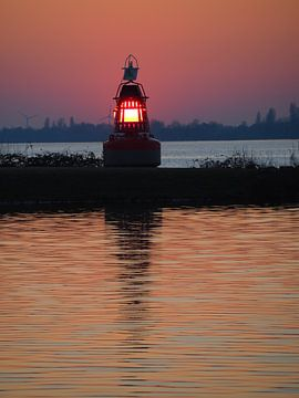Aalsmeer lampje op het water van Gaby  van der Peijl