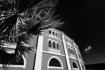 Klassieke Spaanse architectuur (zwart-wit)