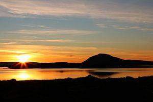 Sunset Myvatn Iceland van