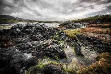 Schottland Landschaft und Meer von Digitale Schilderijen