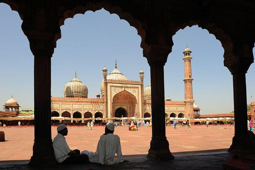 JAMA-Masjidmoskee in Delhi, Indien von Gonnie van de Schans