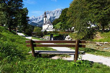 Ramsau Malerwinkel en de wereldberoemde lokale kerk van St. Sebastian bij Berchtesgaden