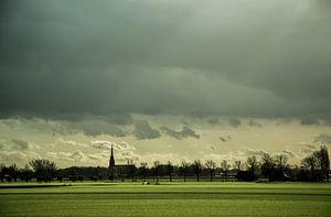 Typisch Hollands landschap  van Sander van Veen