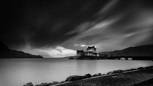 Eilean Donan Castle, dramatische lucht van