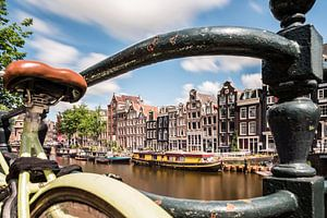 Amsterdam, Singel: een typisch grachtenplaatje. van