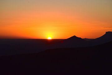 Zonsondergang Zuid Afrika van Rebecca Dingemanse