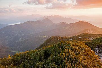 Sonnenuntergang - Benediktenwand von Jiri Viehmann