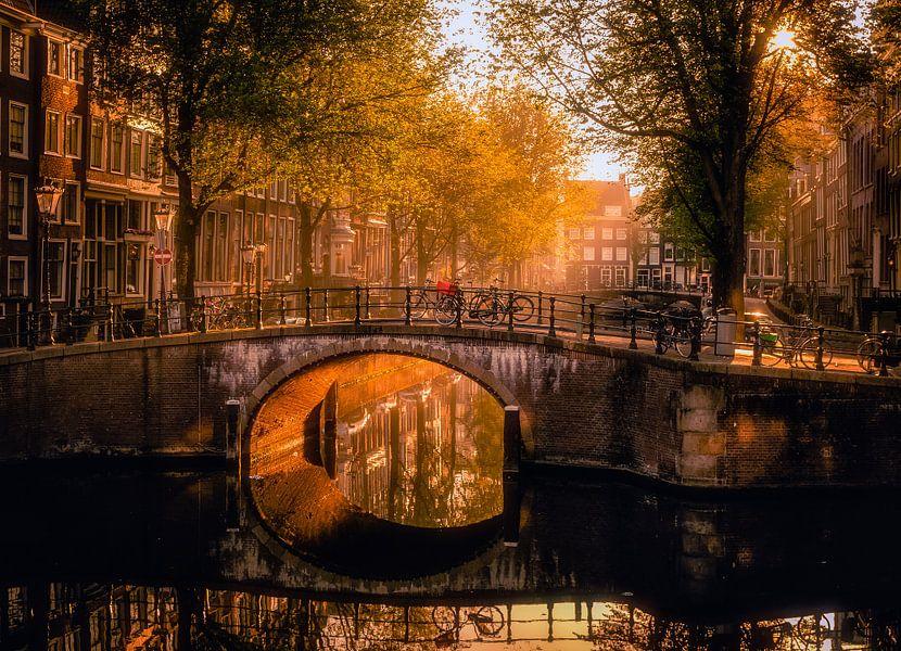 Early morning in Amsterdam van Georgios Kossieris