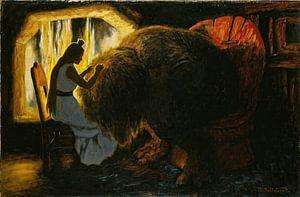 Theodor Kittelsen- La princesse choisit les poux du troll.