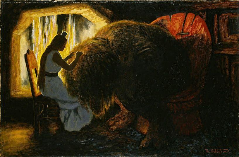 Theodor Kittelsen- La princesse choisit les poux du troll. sur finemasterpiece