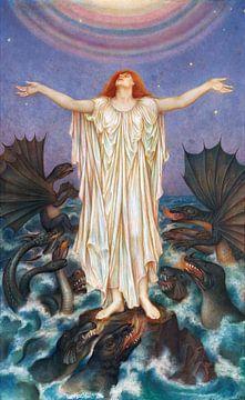 Evelyn De Morgan, S.O.S. - 1916 van Atelier Liesjes