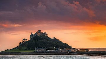 Sonnenuntergang auf dem St. Michael's Mount, Cornwall, England