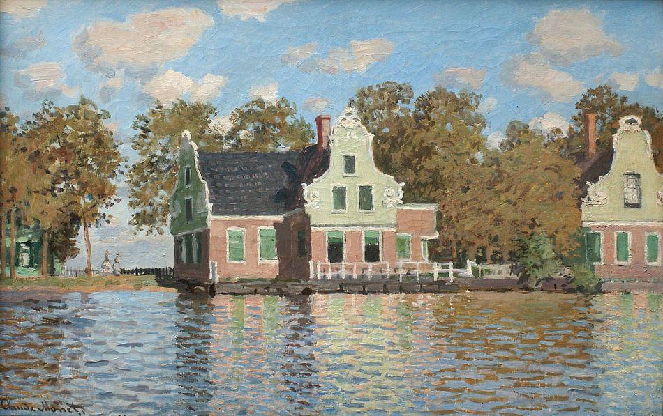 Het Rose huis aan de Achterzaan, Claude Monet