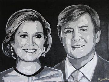 Königspaar Willem Alexander und Maxima von Marielistic-Art