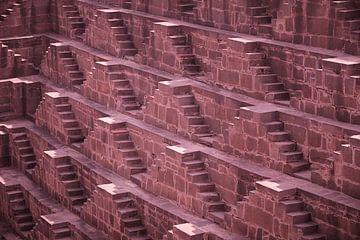 Detail des Treppenhauses Chand Baori, Indien von Karel Ham