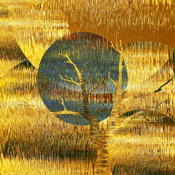 Golden Silence van Wil van der Velde/ Digital Art