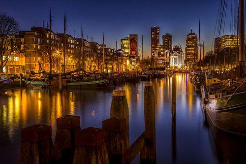Witte Huis Rotterdam tijdens het Blauwe Uurtje van
