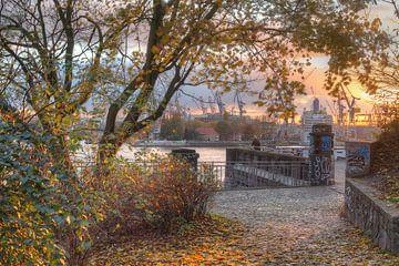 Elbe, Hafen Herbst, Hamburg