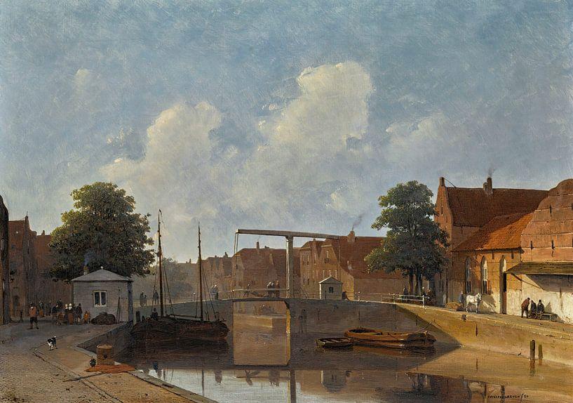 Ein holländischer Kanal, Jan Weissenbruch von Meesterlijcke Meesters