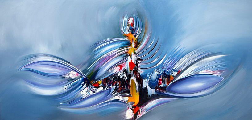 Abstract Blue van Gena Theheartofart