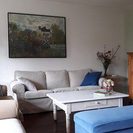 Kundenfoto: Monets Garten in Argenteuil - Claude Monet von Meesterlijcke Meesters